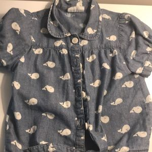 Girls whale t shirt